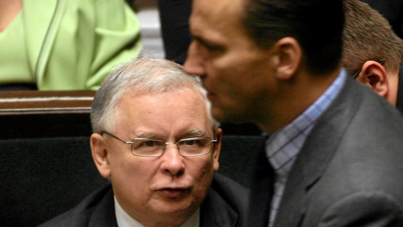 Jarosław Kaczyński i Radosław Sikorski, fot. archiwalna