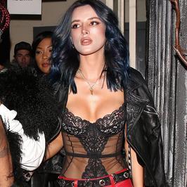 Bella Thorne zmieniła fryzurę. Do tego ten makijaż i dekolt... Przesadziła?