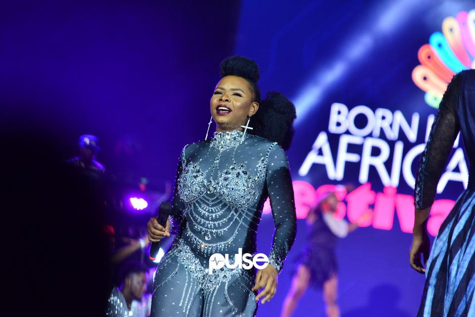 Yemi Alade performing at Born In Africa Festival 2018