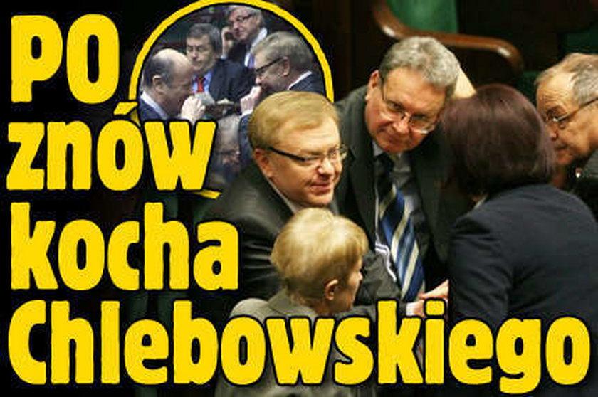 PO znów kocha Chlebowskiego