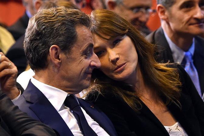 Karla Bruni i Nikola Sarkozi 2016. u Marselju