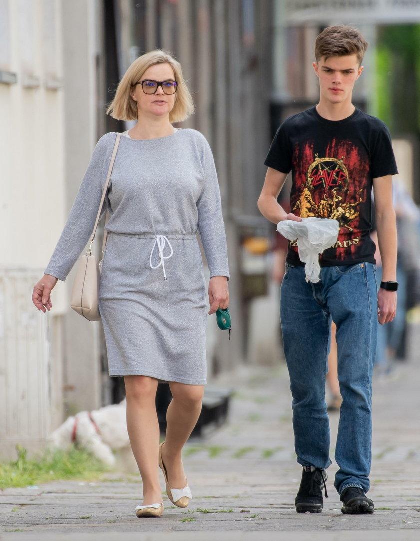 Monika Zamachowska z synem
