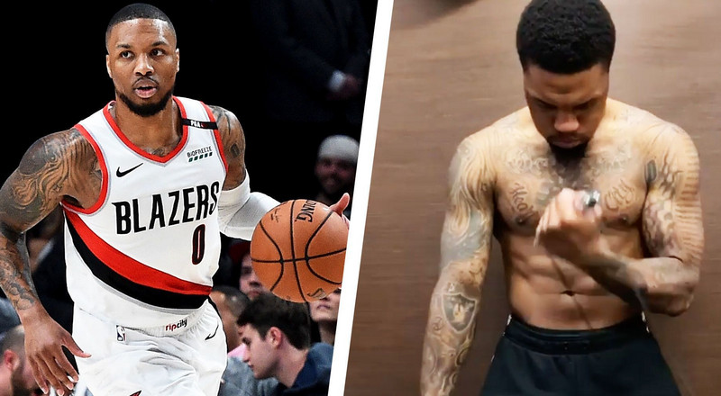 Damian Lillard's Biceps Are Getting Ready for the NBA's Return