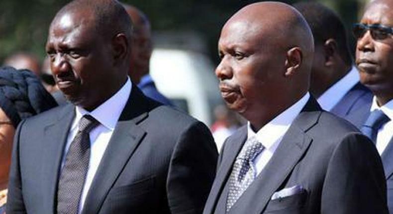 Deputy President William Ruto and Baringo Senator Gideon Moi
