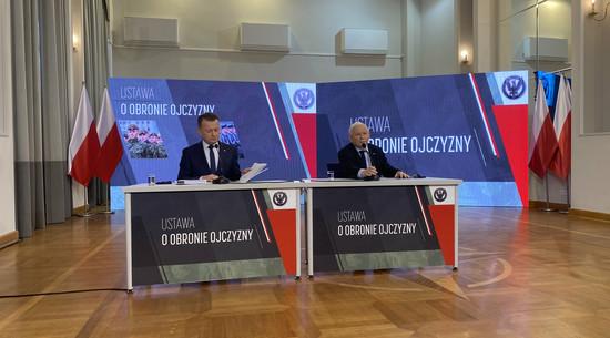 Ustawa o obronie ojczyzny. Błaszczak i Kaczyński podali SZCZEGÓŁY