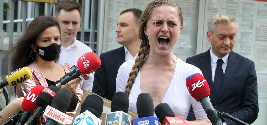 Krzyk rozpaczy pod ambasadą Białorusi. Poruszający protest opozycjonistki w Warszawie