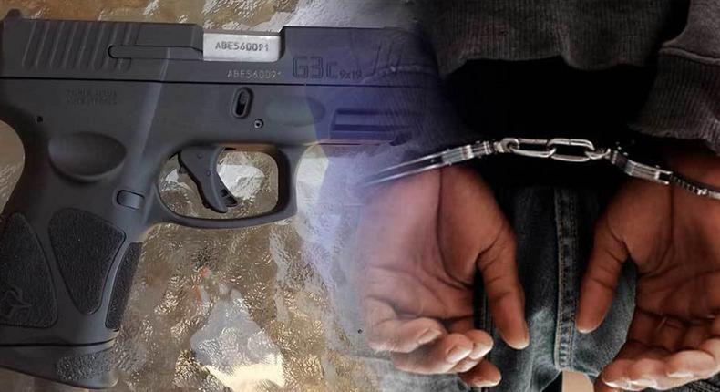 arrestation---pistolet