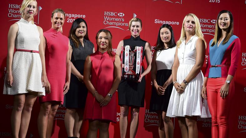 Jessica Korda, Suzann Pettersen, Inbee Park, Lydia Ko, Paula Creamer, Chella Choi, Anna Nordqvist i Michelle Wie