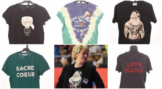 """Majice koje je Marina Maljković donirala za humanitarnu akciju """"Blicove"""" fondacije """"Srce za decu"""""""