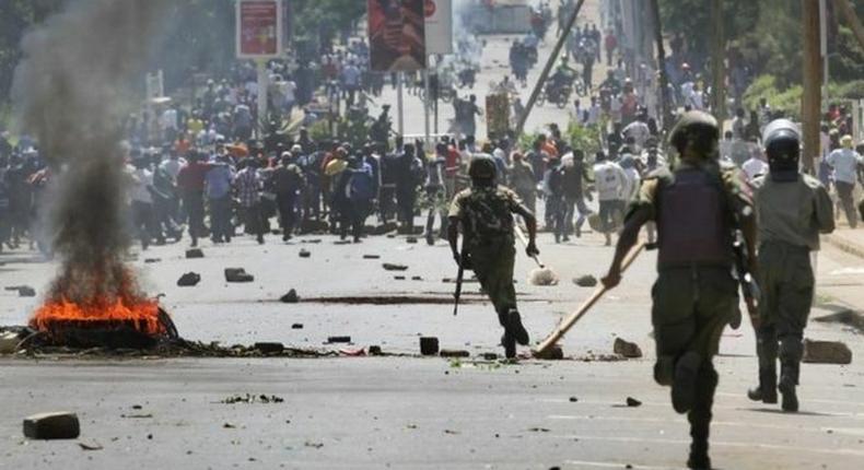 Violent protests broke out in Garissa