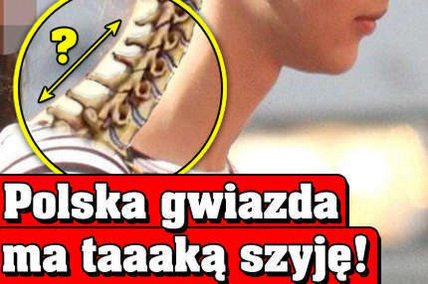 Polska gwiazda ma taaaką szyję!