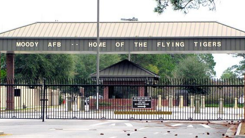 Entrance of the Moody Airforce Base.