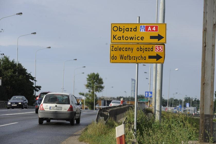 Remont i utrudnienia na A4 (Wrocław - Katowice)
