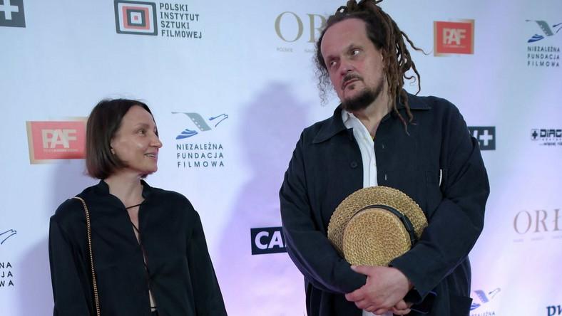 Producentka filmowa Agnieszka Ścibor (L) i reżyser Mariusz Wilczyński (P)