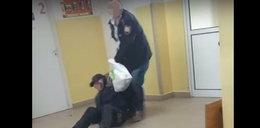 Skandal w szpitalu w Ostródzie. Ochroniarz wywlókł mężczyznę z placówki