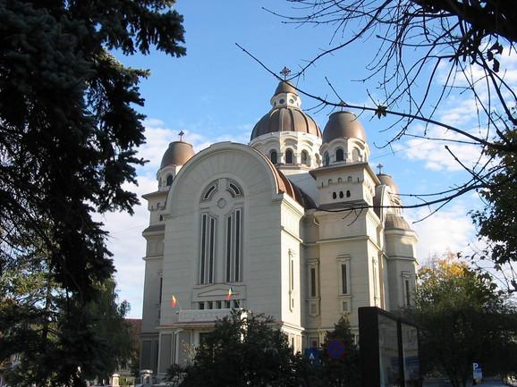 Pravoslavna katedrala u mestu Targu Mureš u Rumuniji