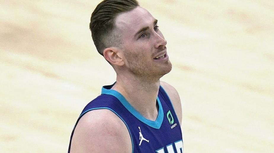Gordon Hayward podczas meczu Charlotte Hornets - Utah Jazz Monday, 23.02.2021 r.