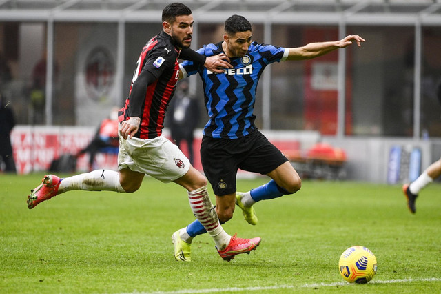 Detalj sa meča FK Milan - Inter