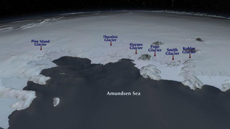 Zagrożone lodowce na Antarktydzie, które stopnieją wskutek zmian klimatycznych