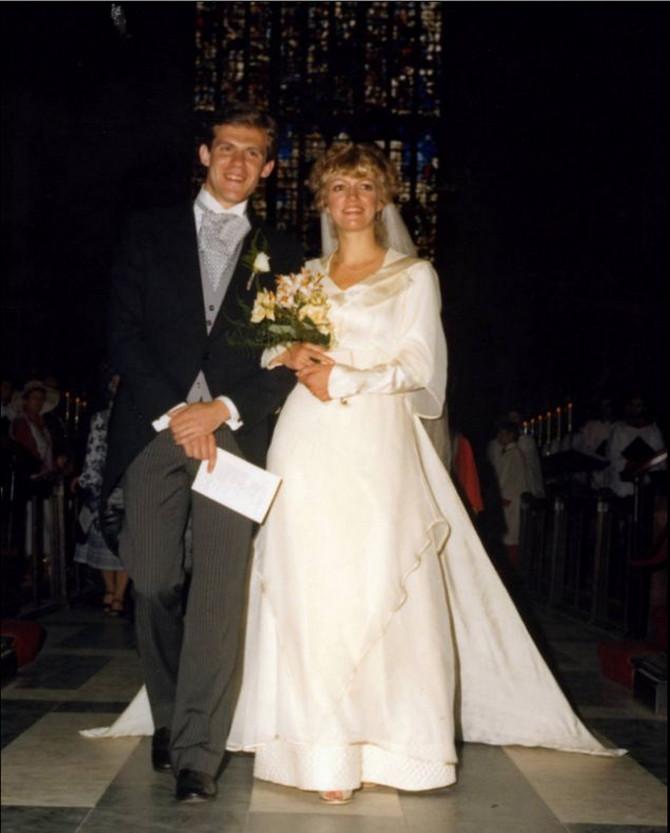 En i Šon Atkins na dan venčanja