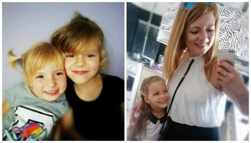 Karolina z córeczkami