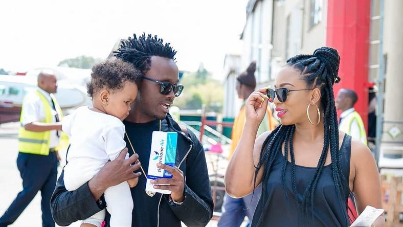 Bahati and his Family on vacation. Diana Marua and Bahati on exotic vacation with daughter Heaven