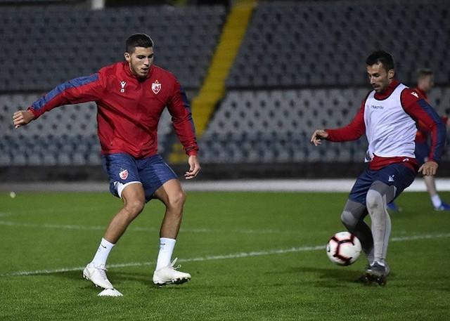 Fudbaleri Crvene zvezde na pripremama