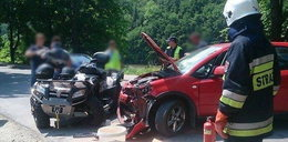 Samochód wbił się w quada