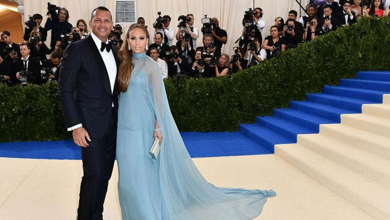 Alex Rodriguez, Jennifer Lopez at the 2017 MET Gala