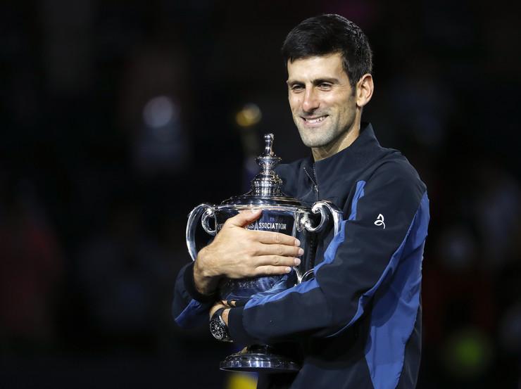Novak Đoković pehar us open 2018