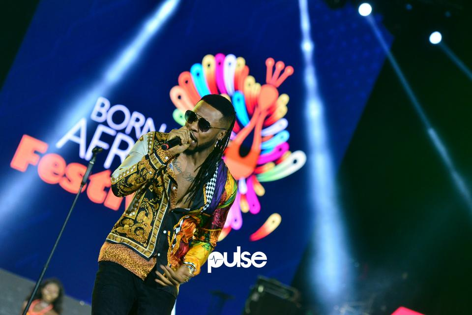 Flavour performing at Born In Africa Festival 2018