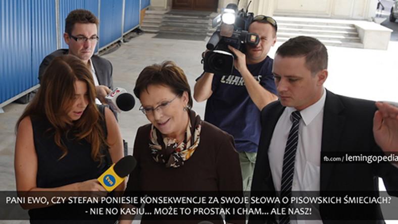 Premier Kopacz nie zamierza karać Stefana Niesiołowskiego.Koledzy z PO mają zaś popracować nad kulturą jego języka.