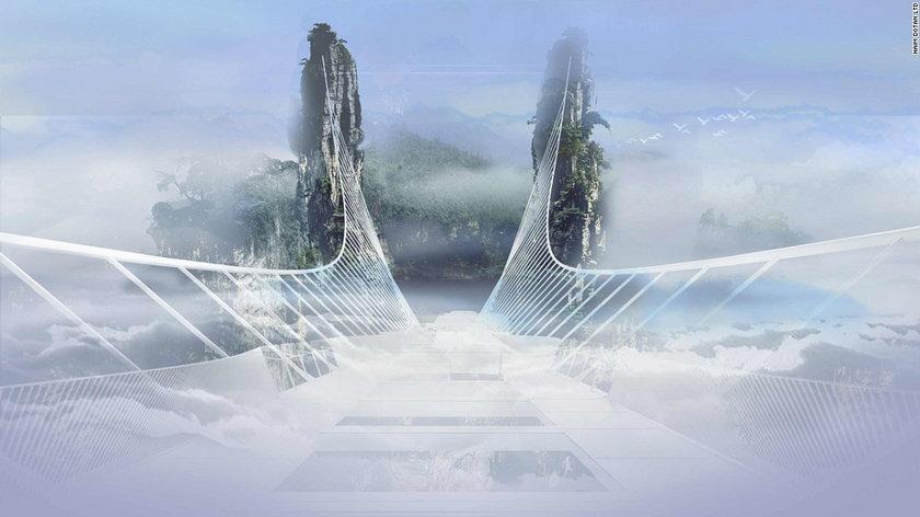 Szklany most w Parku Narodowym Zhangjiajie
