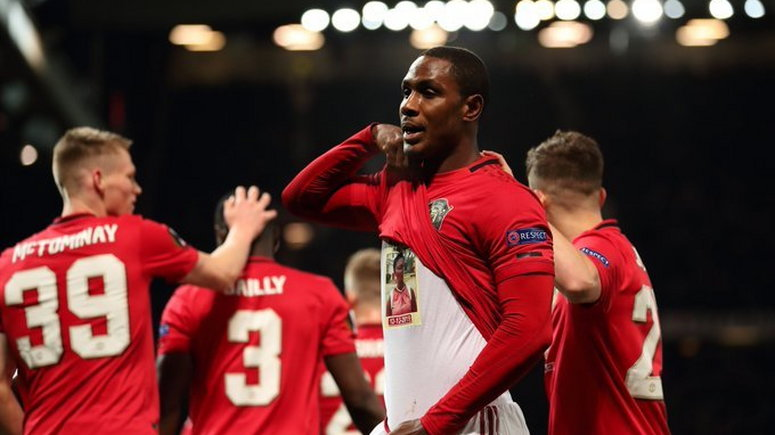 Odion Ighalo pays tribute to his late sister after scoring for Manchester United (Manchester United)