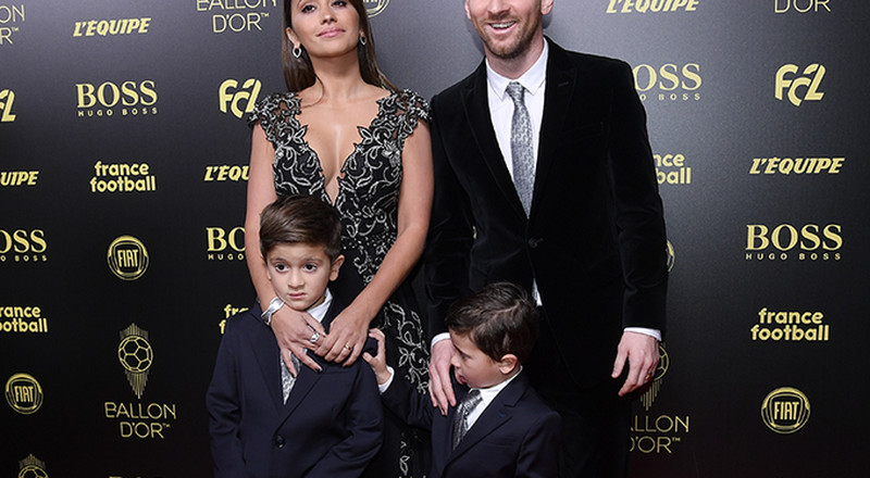 Football stars hit the red carpet of Ballon d'Or ceremony with their wives and girlfriends