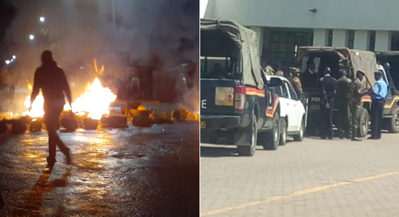 Transport paralyzed as Kasarani-Mwiki road protests rock Nairobi. Egerton students engage police in running battles as they protest Sh16,000 damage fee