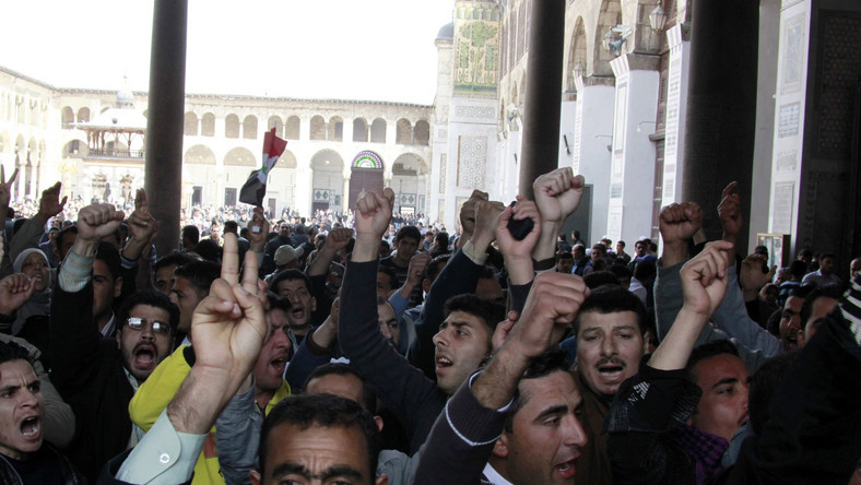 Prodemokratyczna manifestacja w Damaszku