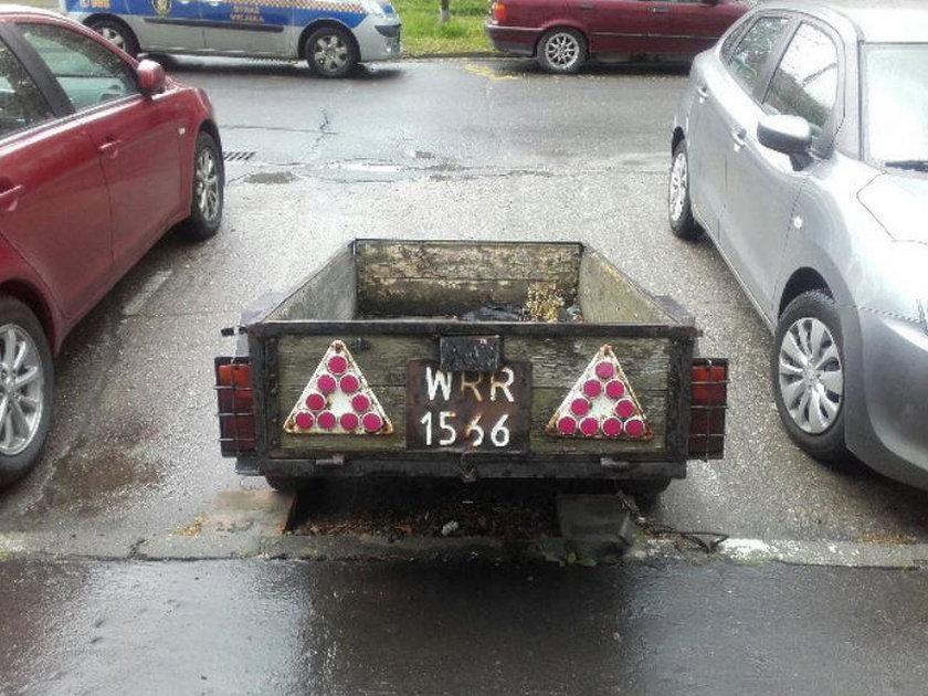 przyczepka, Wrocław, straż miejska