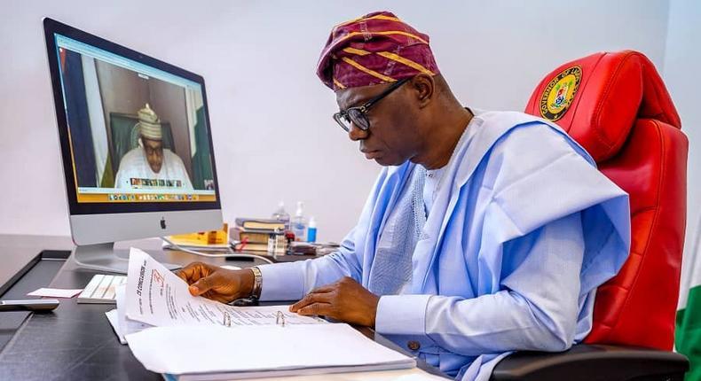 Lagos State Governor, Mr Babajide Sanwo-Olu. [Twitter/@jidesanwoolu]