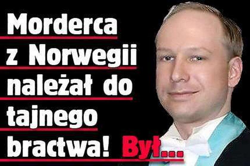 Morderca z Norwegii należał do tajnego bractwa! Był...