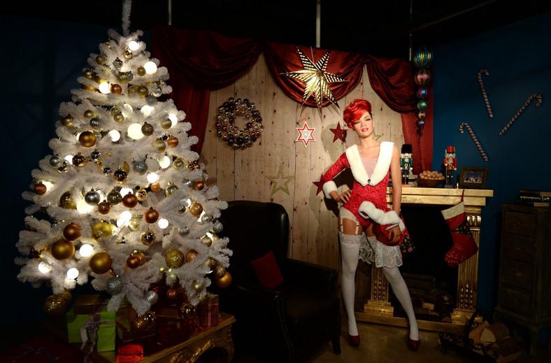 Rihanna w świątecznej wersji w Madame Tussauds w Berlinie