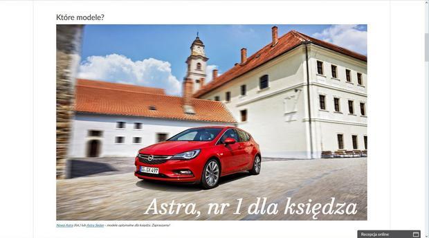 Opel - idealne auto dla księdza
