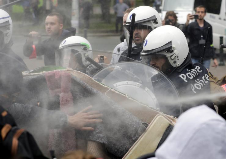 Brisel Žuti prsluci protest EPA JULIEN WARNAND