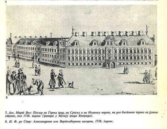 Izgled Virtemberške kasarne ili palate