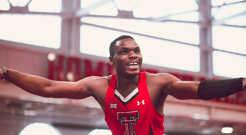 Nigerian sprinter Divine Oduduru wins 2 titles at Big 12 Indoor Championships while smashing a world college record in 200m
