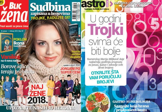 """Nova """"Blic žena"""" na kioske stiže u subotu 26. januara"""