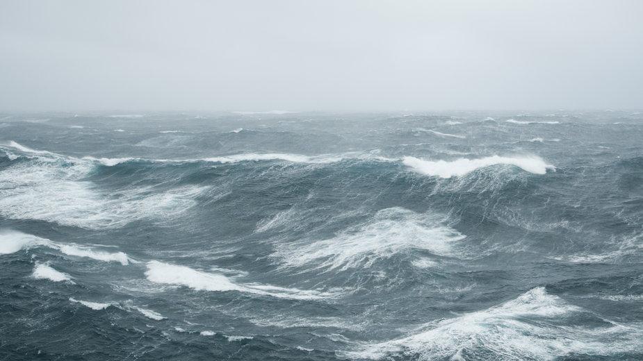 Sztorm na Oceanie Atlantyckim