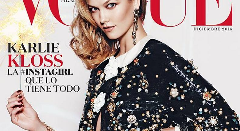 Karlie Kloss covers Vogue Mexico December 2015 issue