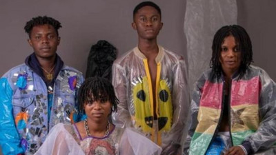 Plastic waste turns into fashion trend for Ghanaian youth