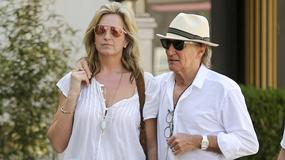 Rod Stewart na zakupach z piękną żoną